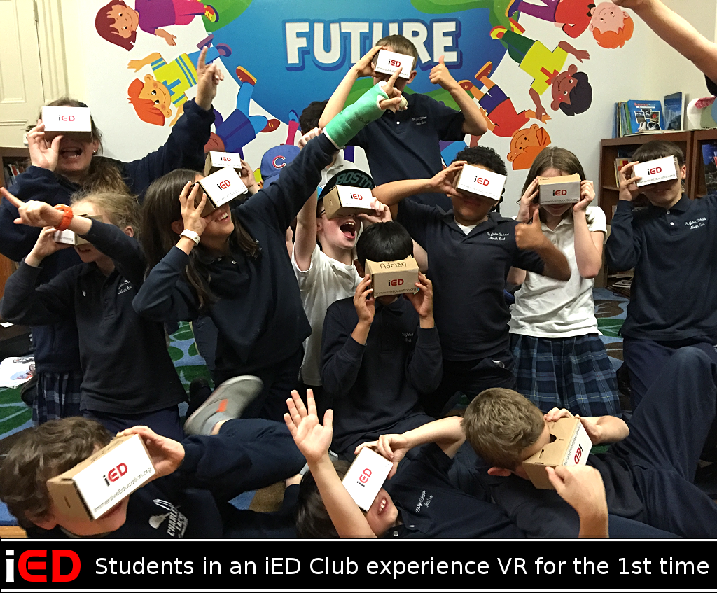 Students in Immersive Education Club Experience VR for the first time
