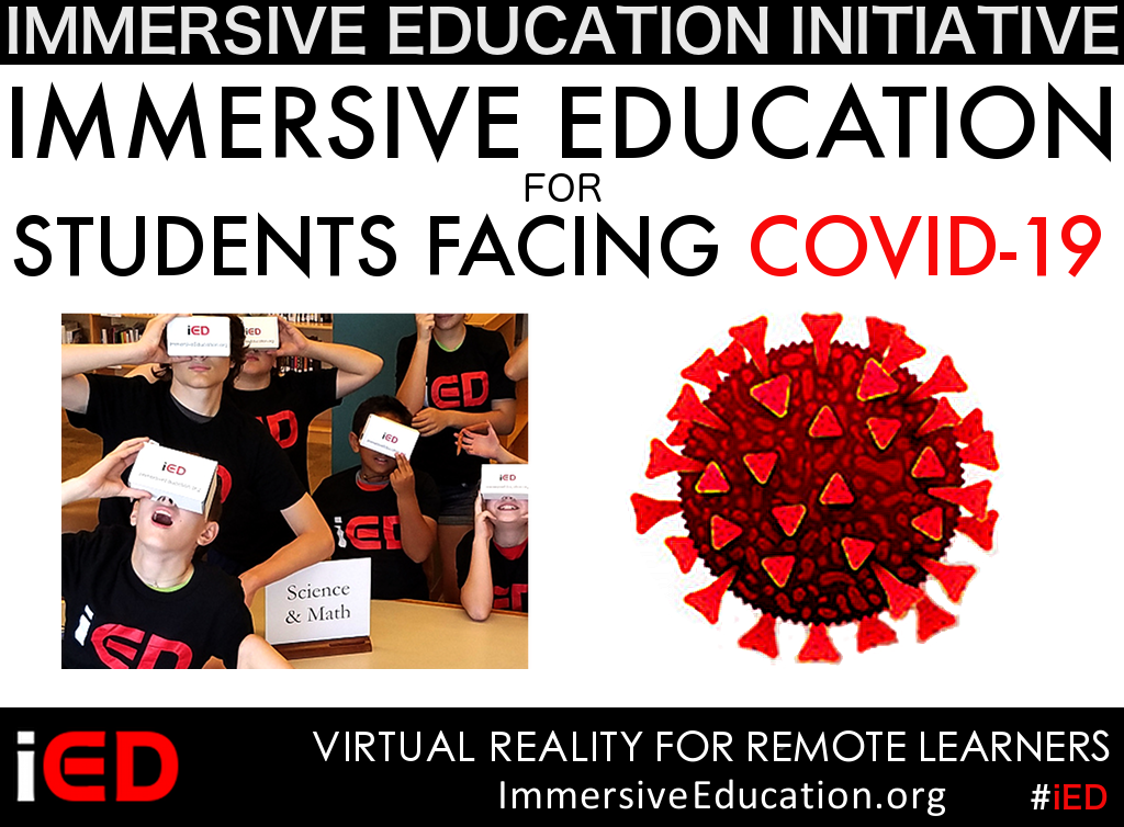 Immersive Education for Remote Learners poster image - Immersive Learning for distance learners